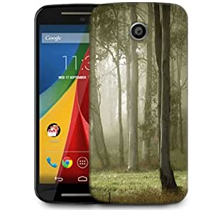 Snoogg White Tall Trees Designer Protective Phone Back Case Cover For Motorola G 2nd Genration / Moto G 2nd Gen