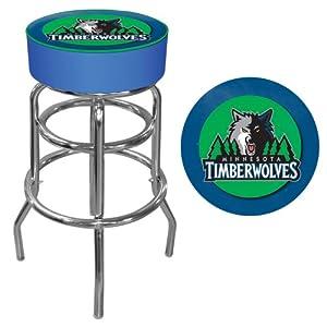 NBA Minnesota Timberwolves Padded Swivel Bar Stool by Trademark Games