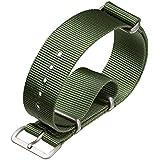 Bracelet de montre militaire G10 NATO en nylon par ZULUDIVER, Vert, 18mm