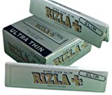 5 x RIZLA SILVER KING SIZE SLIM ULTRA THIN CIGARETTE GUMMED ROLLING PAPER BOOK BOOKLET