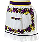 Oh Gussie Girls' Pansy Half Apron