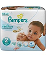 Pampers New Baby Sensitive 28 Couches 3-6 kg Taille 2 Mini - Lot de 2