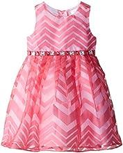 Youngland Little Girls39 Chevron Stripe Occasion Dress