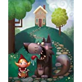 "FOV Editions Little Red Riding Hood Museum Quality Giclee Canvas Print Unframed Modern Art By Adam Ford - 14"" X 18"""