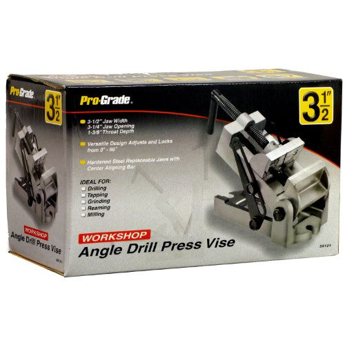 Pro-Grade 59121 Angle Drill Press Vice, 31/2-Inch