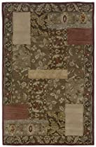 Hot Sale Rizzy Rugs FL-0118 9-Foot by 12-Foot Floral Area Rug, Floral Burgundy