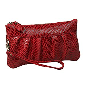 Fashion Story Women Envelope Evening Cocktail Party Handbag Mini Purse Paillette Snakeskin by Fashion Story
