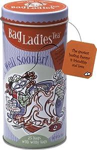 Bag Ladies Tea Get Well Sooner Tea Tin, 25 Teabags of English Breakfast Tea by Bag Ladies Tea