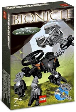 LEGO Bionicle Rahaga Mini Figure Set #4878 Bomonga (Black) - 1