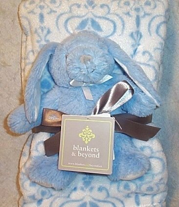 Blankets & Beyond Baby Blanket & Bunny Toy (2-Pack)