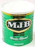 MJB ベーシックブレンド レギュラーコーヒー (粉) 1000g×2缶