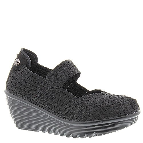 Bernie Mev Lulia Casual Wedge Mary Jane Sandal Shoe - Black - Womens - 39