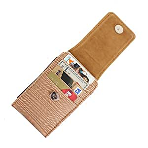 DooDa PU Leather Pouch Case Cover With Magnetic Closure For Spice Stellar Mettle Icon (Mi-506)