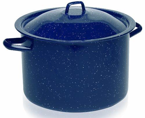 IMUSA USA C20666-10636W Enamel Stock Pot, 7.75-Quart, Blue