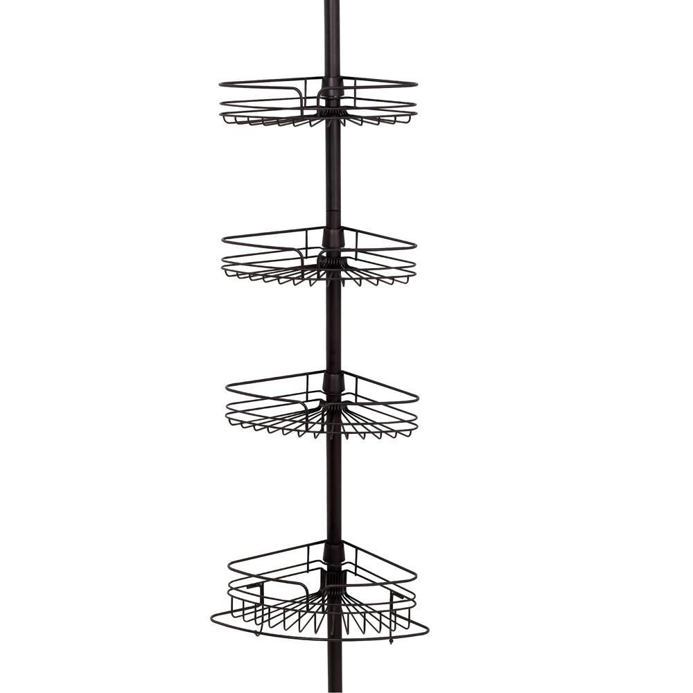 Shower Caddy Tub Corner Shelf Tension Pole Organizer