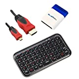 BIRUGEAR Bluetooth Wireless Mini Keyboard + 6FT Micro-HDMI Cable for Asus Transformer Book T200TA / TX300 / T300 / T100 / Trio, TAICHI 31, TAICHI 21, Transformer Pad Infinity TF701T, MeMo Pad FHD 10 ME302C, MeMO Pad Smart 10 ME301T, VivoTab Smart ME400,