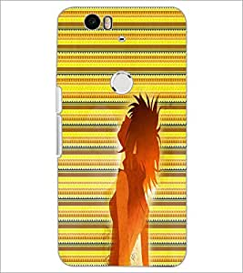 PrintDhaba Cool Girl D-5637 Back Case Cover for HUAWEI NEXUS 6P (Multi-Coloured)