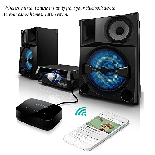 Kextech Car Bluetooth Music Receiver With Hands Free Function: Multi-Functional Bluetooth Receiver, AGPtEK HiFi Bluetooth