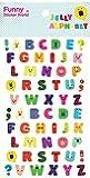 BC USA Jelly Alphabet GEL Stickers