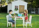 Teamson Kids -Windsor Round Table & Set of 2 Chairs - White