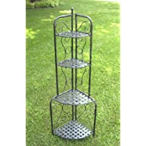 Indoor or Outdoor Iron Folding Bakers Shelf / Plant Rack