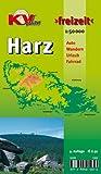 """Harz: 1:50.000, Der """"ganze"""" Harz von Goslar bis Sangerhausen und Osterode bis Quedlinburg, Freizeitkarte incl. Rad- und Wanderwegen"""