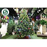 Best Artificial Premium 7ft / 210cm Real Feel Hinged Christmas Tree with Nearly 1700 Full PE Tips for Indoor Xmas with 5 YEAR GUARANTEE
