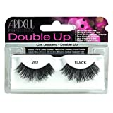 Ardell - Double Up #203 False Eyelashes, Black (Pack of 4 Pairs), reusable
