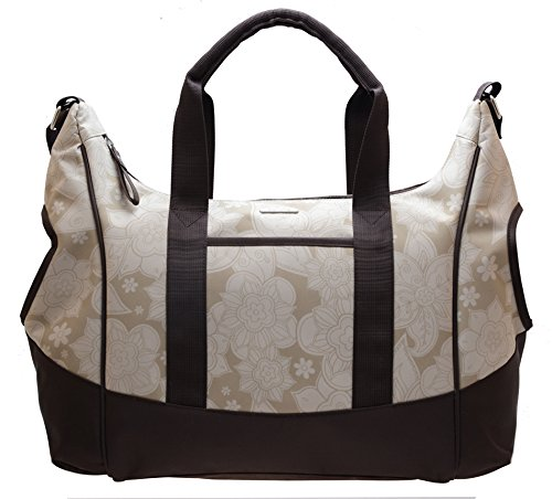 Bellotte Croissant Diaper Bag, Yellow Flower - 1