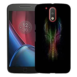 Snoogg Abstract Deer Designer Protective Back Case Cover For MOTOROLA G4 / G4 PLUS