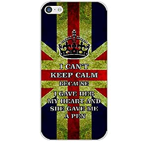 Skin4gadgets I CAN'T KEEP CALM BECAUSE I gave her my heart and she gave me a pen - Colour - UK Flag Phone Skin for APPLE IPHONE 5C