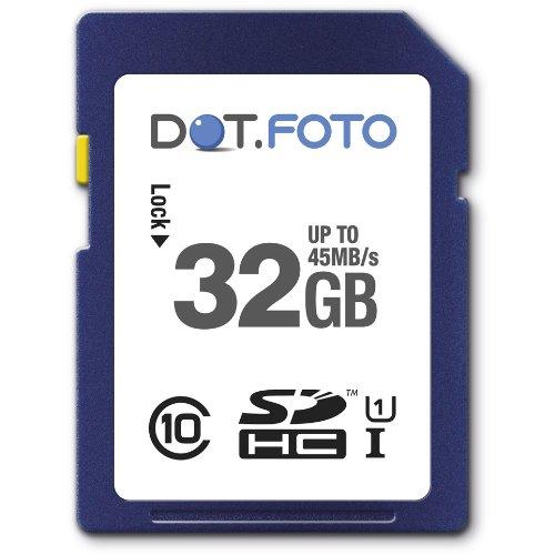 Dot.Foto Extreme SDHC 32Gb Class 10 UHS-1 (bis 45MB/s Lesen) Speicherkarte für SilverCrest SCAZ 5.00 A1