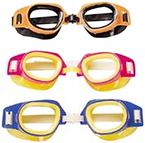 Bestway Multicolored Swimming Goggles - Ages 3+ (3 Per Order)