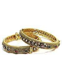 Shingar Jewellery Ksvk Jewels Antique Gold Plated Bangles Set For Women (5924-m-P)