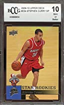 2009-10 upper deck #234 STEPHEN CURRY golden state warriors rookie BGS BCCG 10 Graded Card