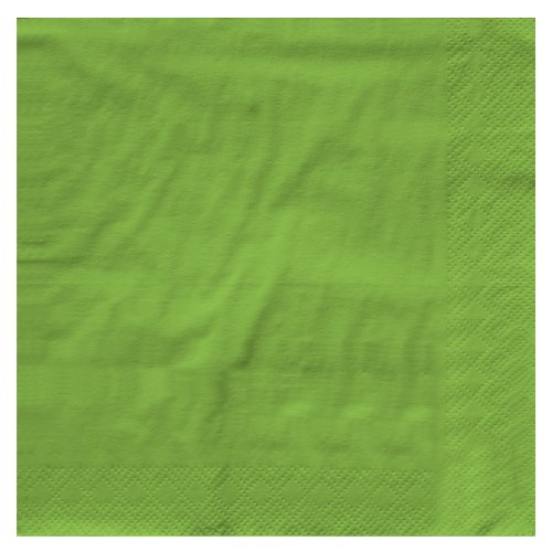 Creative Converting Touch of Color 2-Ply 50 Count Paper Beverage Napkins, Fresh Lime