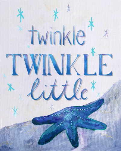 Cici Art Factory Twinkle Little Star Wall Decor, Blue
