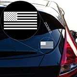 """American Flag United States Decal Sticker for Car Window, Laptop, Motorcycle, Walls, Mirror and More. # 559 (White, 3"""" x 5.7"""")"""