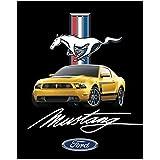 """Ford Mustang Heavy Fleece Sherpa Blanket 48"""" X 60"""""""