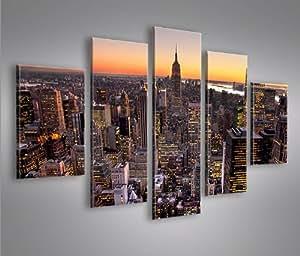 New york city v6 mf 5 quadri moderni su tela pronti da appendere montata su pannelli in - Quadri da appendere in cucina ...