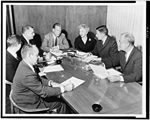 Photo: Meeting,staff,Raymond Loewy Associates,office,Michigan Avenue,Chicago,IL,1960