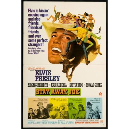 Stay Away, Joe 1968 ORIGINAL MOVIE POSTER Elvis Presley Comedy Drama