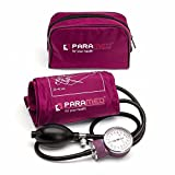 Manual Blood Pressure Cuff By Paramed – Professional Aneroid Sphygmomanometer With Carrying Case – Adult Sized Cuff – Bp Monitor Set With Stethoscope (Pink)