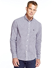 Blue Harbour Pure Cotton Mini Checked Shirt
