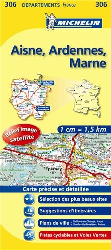 LA CHAPELLE MONTHODON ET ENVIRONS - Carte DPARTEMENTS Aisne, Ardennes, Marne