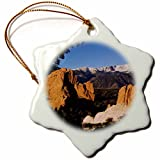 3dRose orn_84232_1 Pikes Peak Rock Form, Garden of The Gods, CO, USA-NA02 RNU0065-Rolf Nussbaumer-Snowflake Ornament, Porcelain, 3-Inch