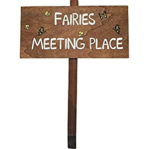 """Wooden Garden Sign """"Fairies Meeting Place"""" by Giftworks"""