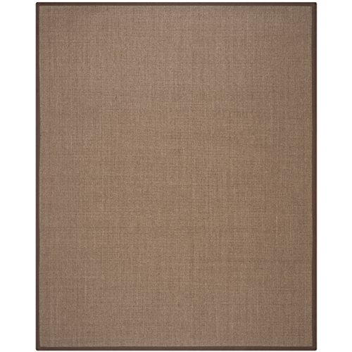 Safavieh Natural Fiber Collection NF441D Handmade Charcoal and Charcoal Sisal Area Rug, 10 feet by 14 feet (10' x 14')