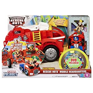 Playskool Transformers Rescue Bots Heroes Electronic Rescue Bots Mobile Headquarters Playset