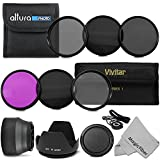 77MM Must Have Lens Filter Accessory Kit for CANON 24-105MM - 10-22MM - 17-40MM and NIKON 28-300 - DSLR Zoom Lenses - Includes: 77MM Vivitar Filter Kit (UV - CPL - FLD) + Altura Photo ND Neutral Density Filter Set (ND2 - ND4 - ND8) + Carry Pouch + Tulip Lens Hood + Collapsible Lens Hood + Snap-On Front Lens Cap + Cap Keeper Leash + MagicFiber Microfiber Lens Cleaning Cloth